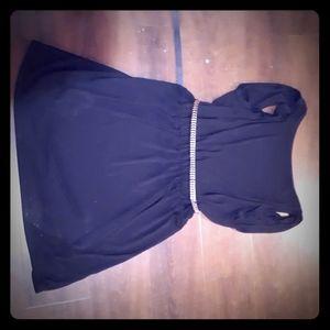 ZARA High front backless slinky dress.